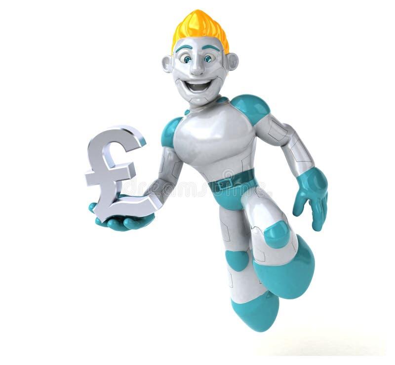 Robot - 3D ilustracja ilustracja wektor