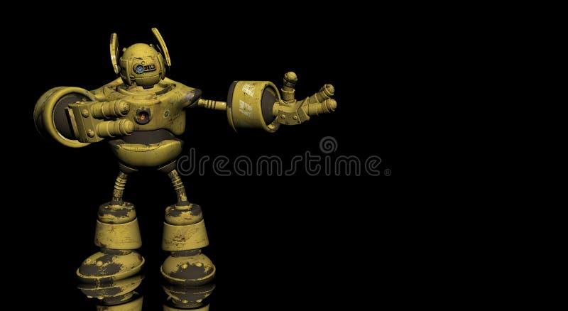 Robot d'ouvrier illustration de vecteur