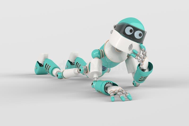 Robot dans la pose illustration libre de droits