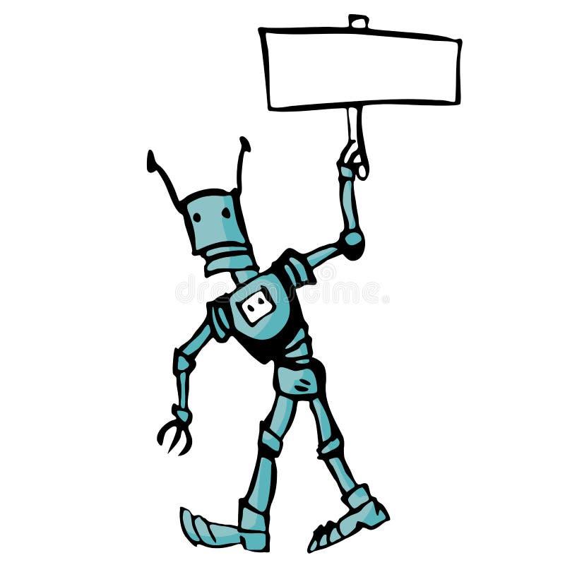 Robot de bande dessinée illustration libre de droits