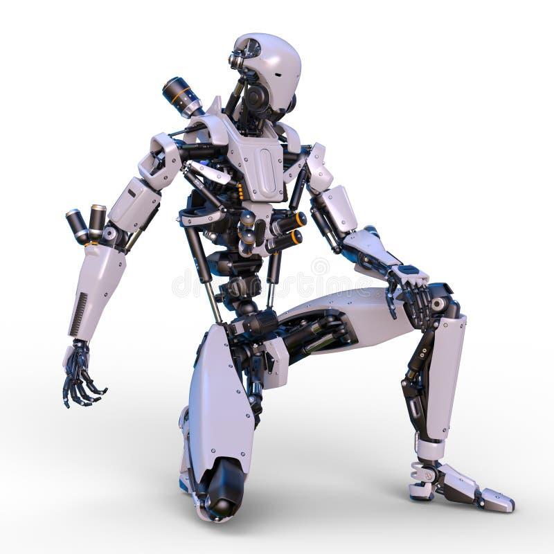 Robot de bataille illustration libre de droits