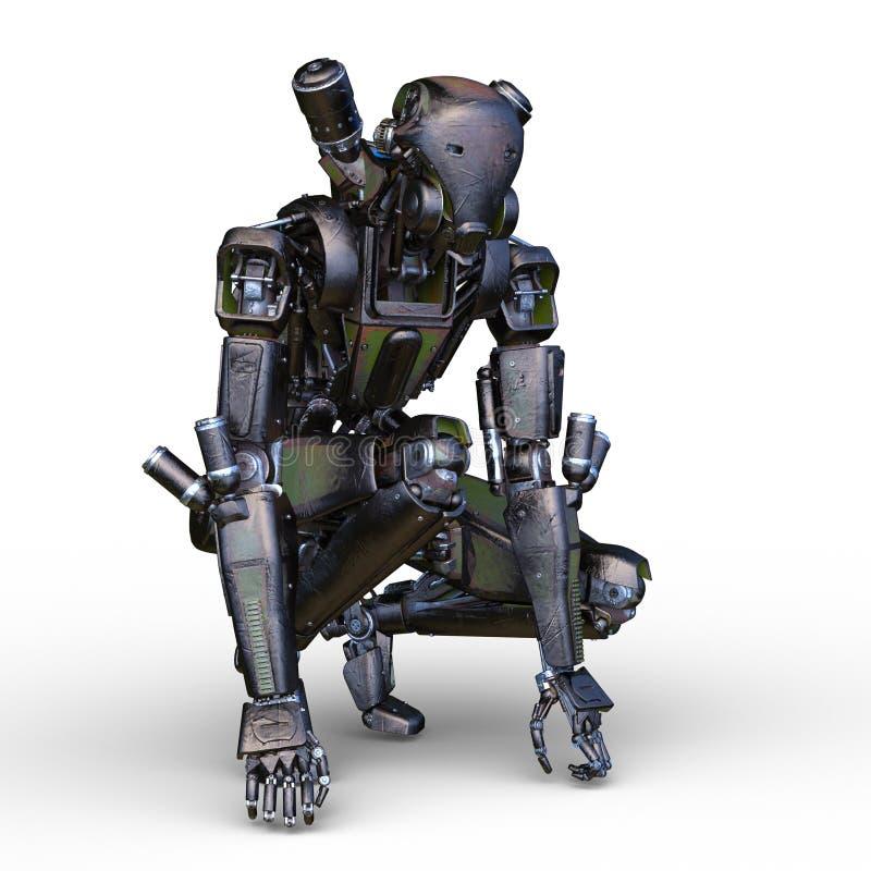 Robot de bataille illustration stock