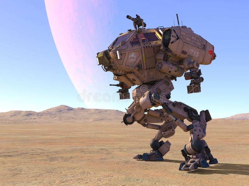 Robot de bataille photographie stock libre de droits