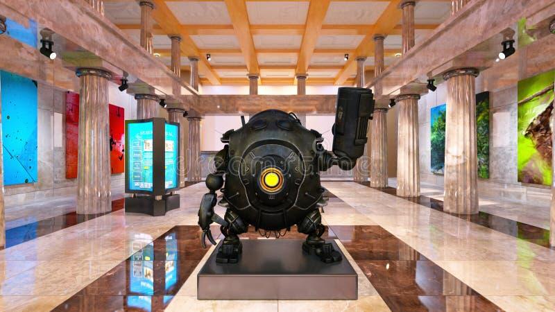 Robot de bataille image libre de droits