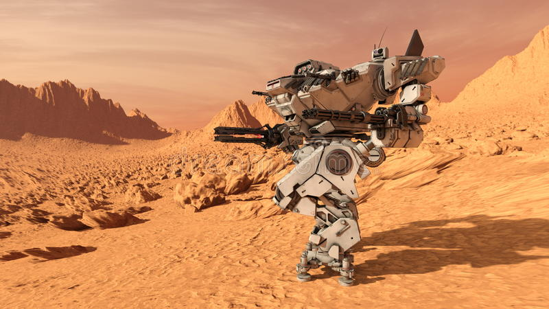 Robot de bataille photo stock