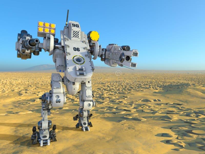 Robot de bataille images libres de droits