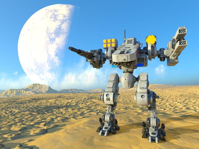 Robot de bataille images stock