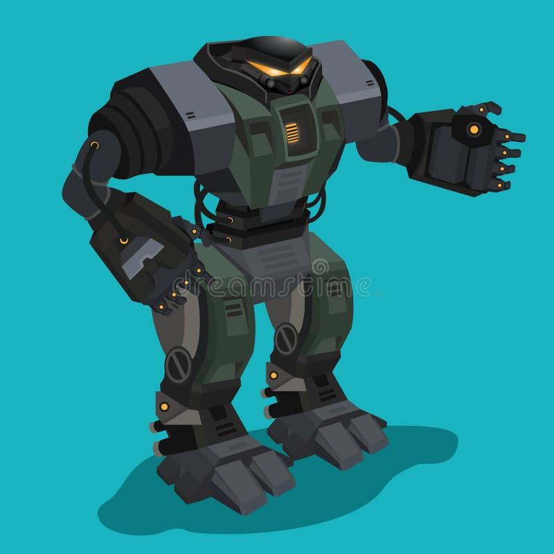Robot de caractère illustration de vecteur
