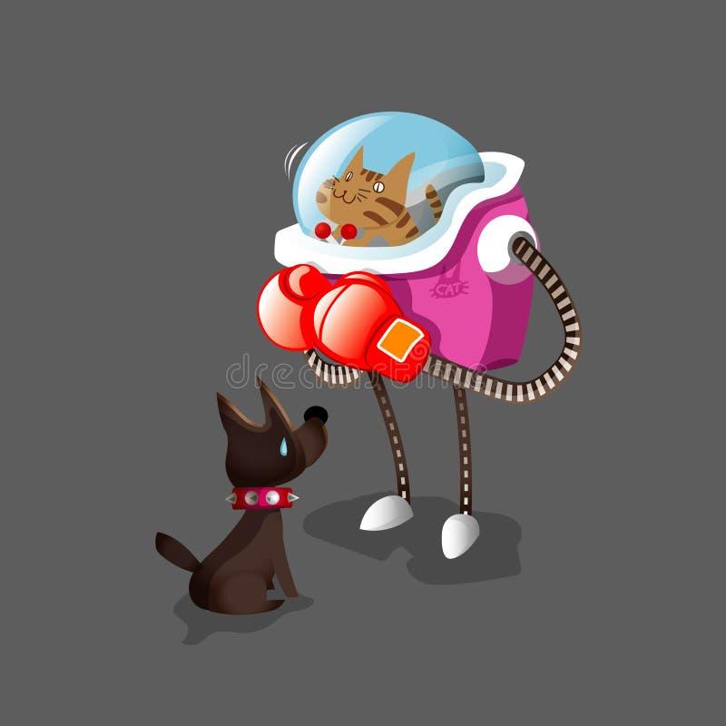 Robot de chat illustration de vecteur