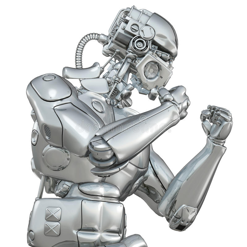 Robot de combat illustration libre de droits