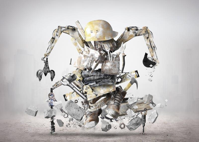 Robot de construcción enorme fotos de archivo