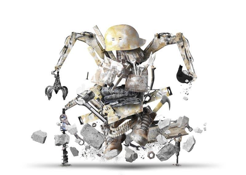 Robot de construcción enorme fotografía de archivo