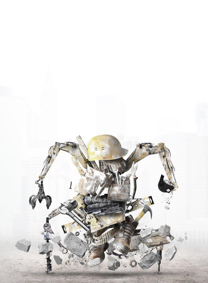 Robot de construcción enorme imágenes de archivo libres de regalías