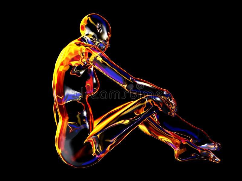 Robot de femme illustration de vecteur