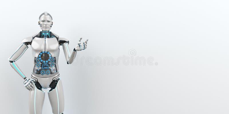 Robot de humanoïde comme conseiller i illustration stock