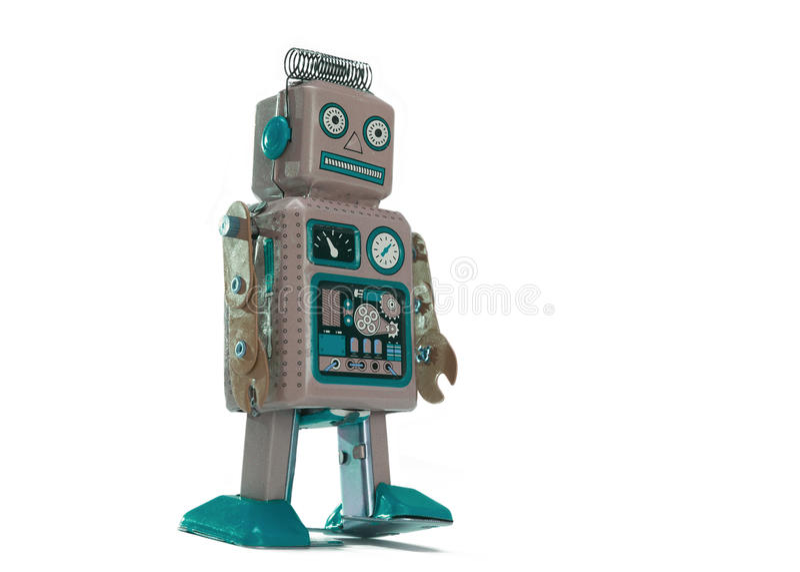 Robot de jouet images libres de droits