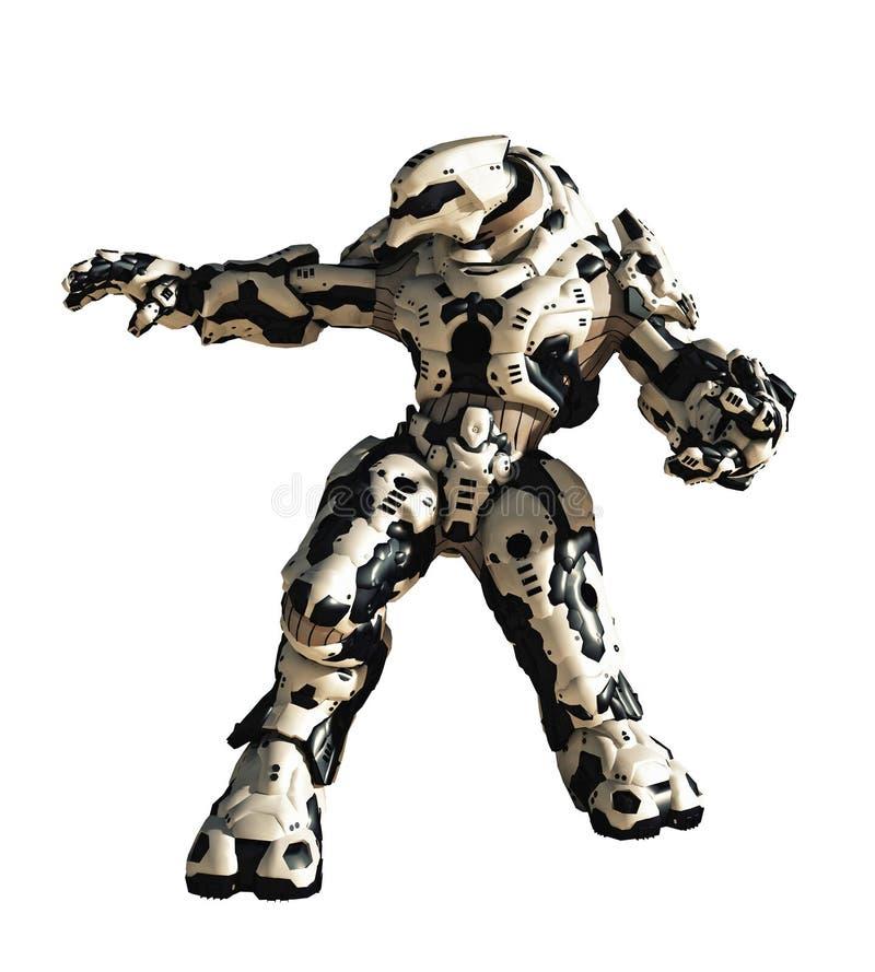 Robot de la batalla de la ciencia ficción stock de ilustración