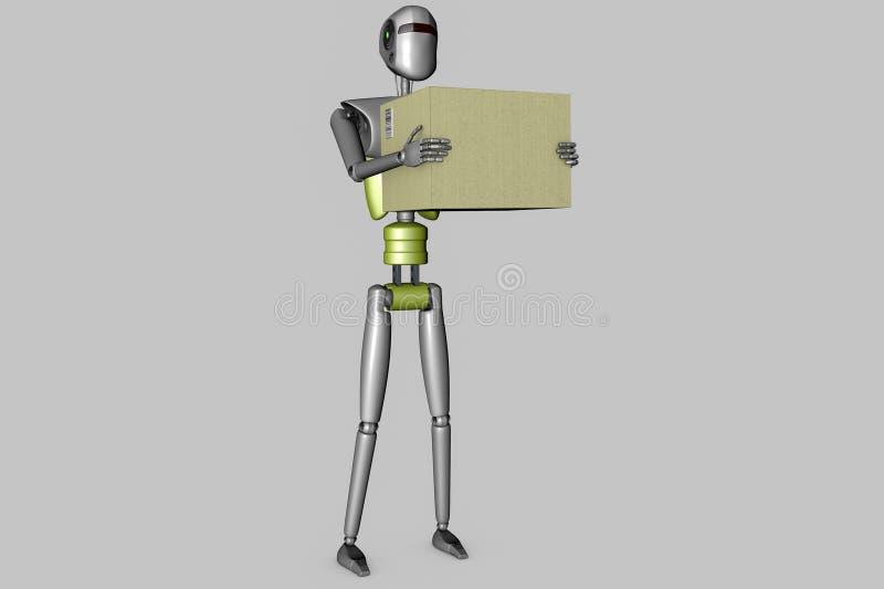 Robot de la entrega stock de ilustración