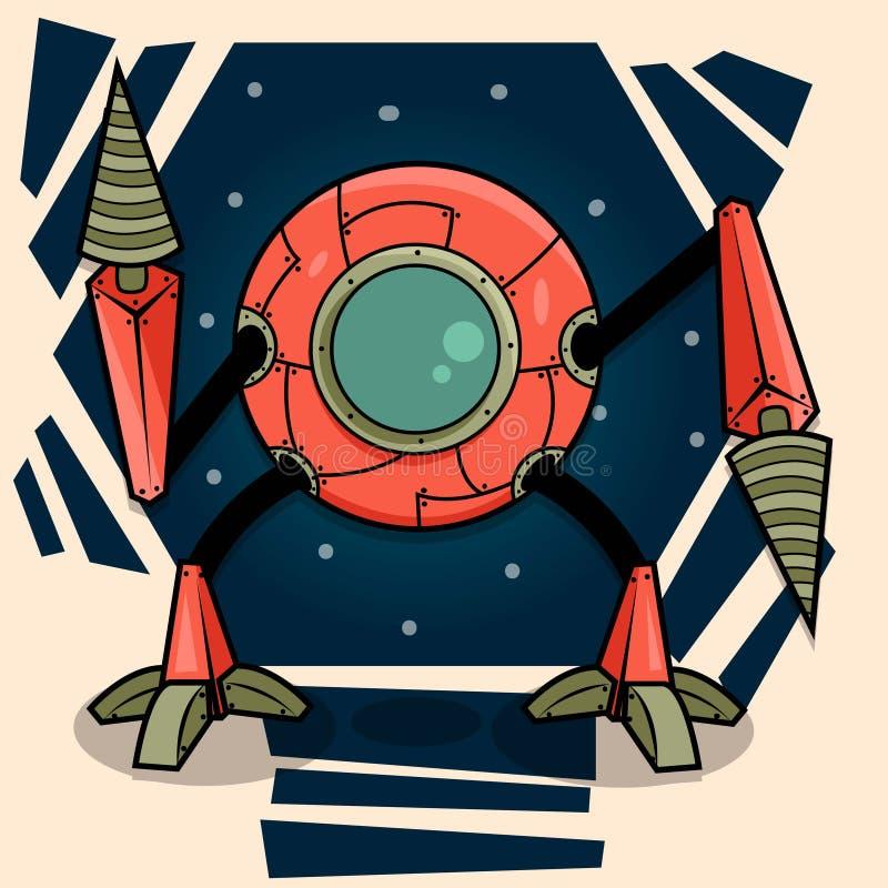 Robot de la historieta libre illustration