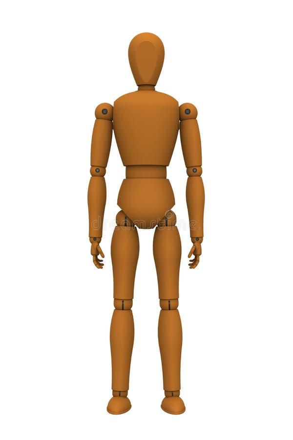 Robot de la marioneta stock de ilustración