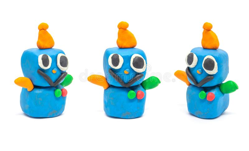 Robot de la pasta del juego en el fondo blanco foto de archivo libre de regalías