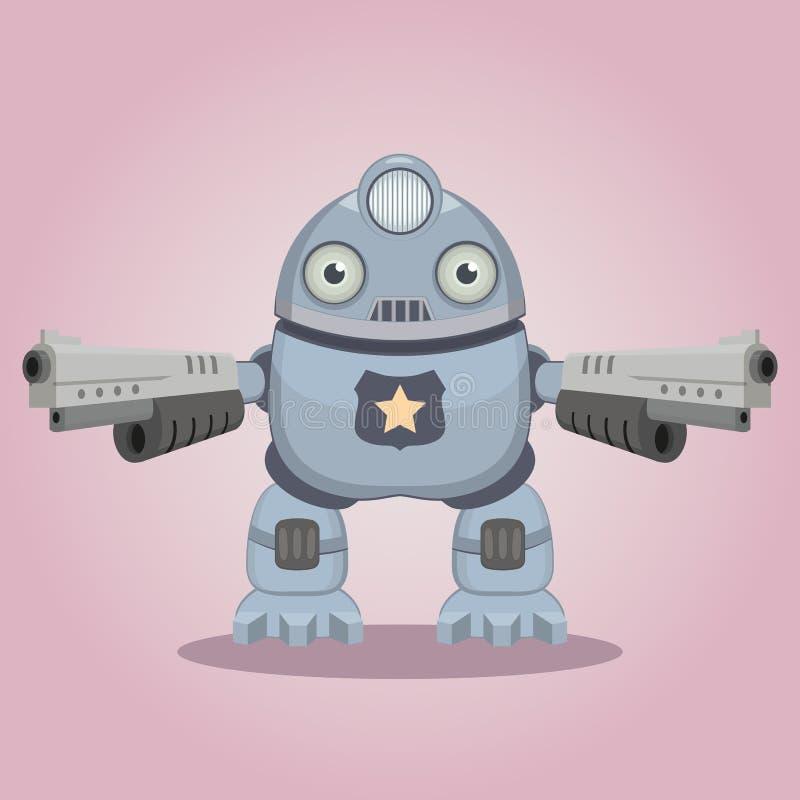 Robot de la policía stock de ilustración