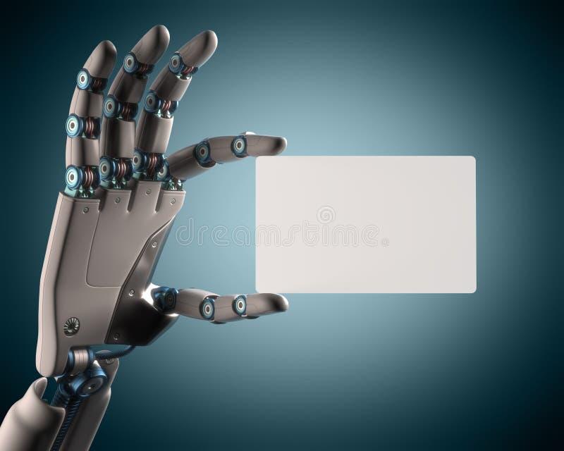 Robot de la tarjeta en blanco ilustración del vector