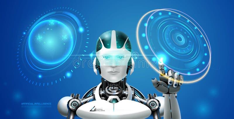 Robot de la tecnología del Ai libre illustration