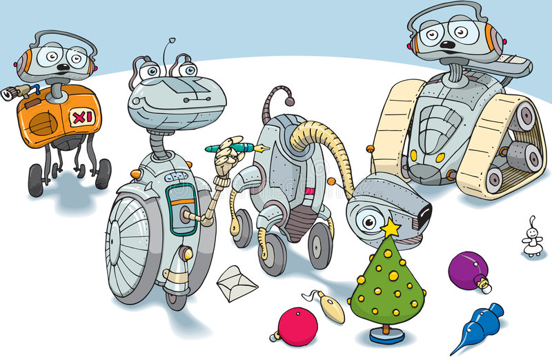 Download Robot de sourire illustration stock. Illustration du heureux - 8662453