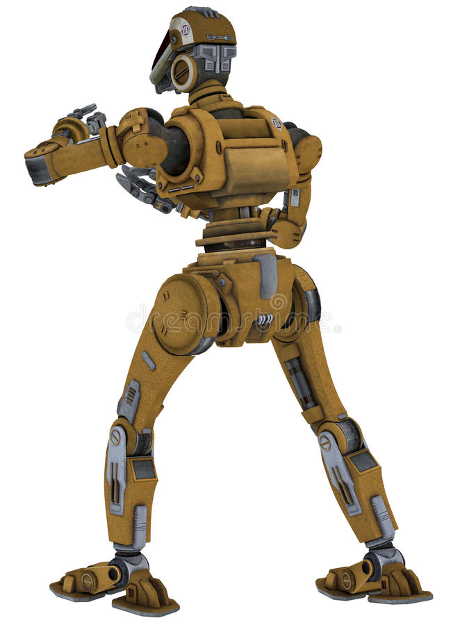 Robot de travail illustration stock