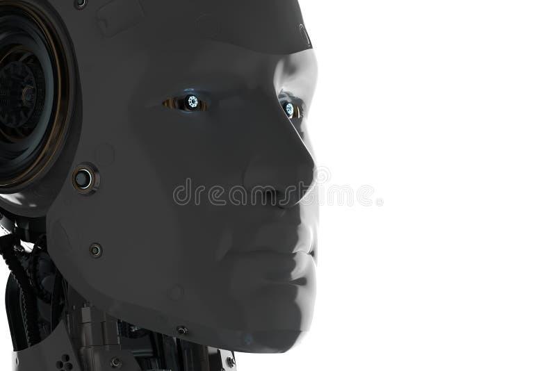 Robot del ai de la silueta stock de ilustración