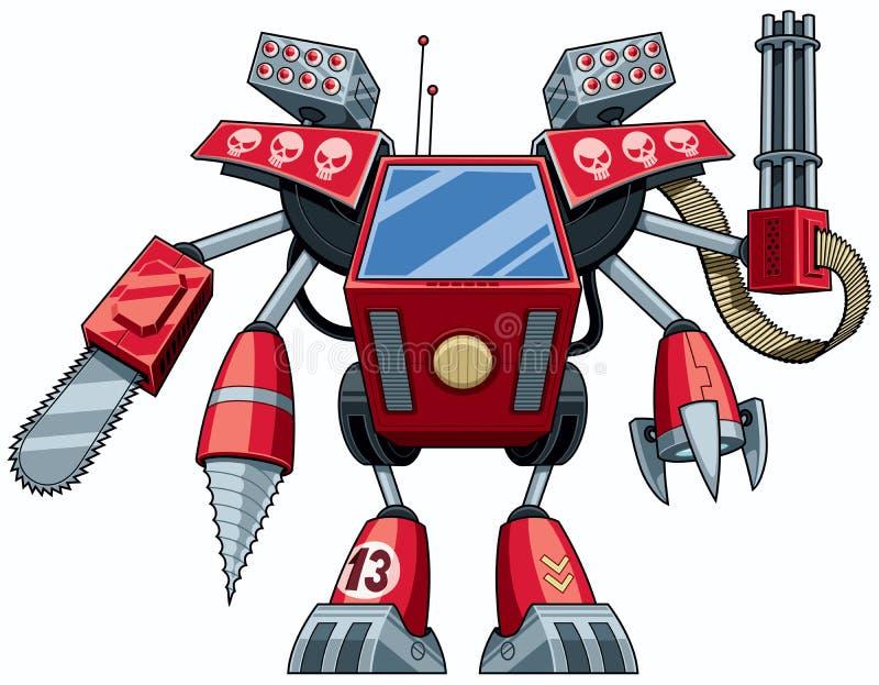 Robot del asesino ilustración del vector