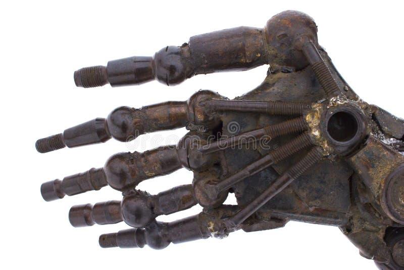 Robot del brazo del hierro fotos de archivo