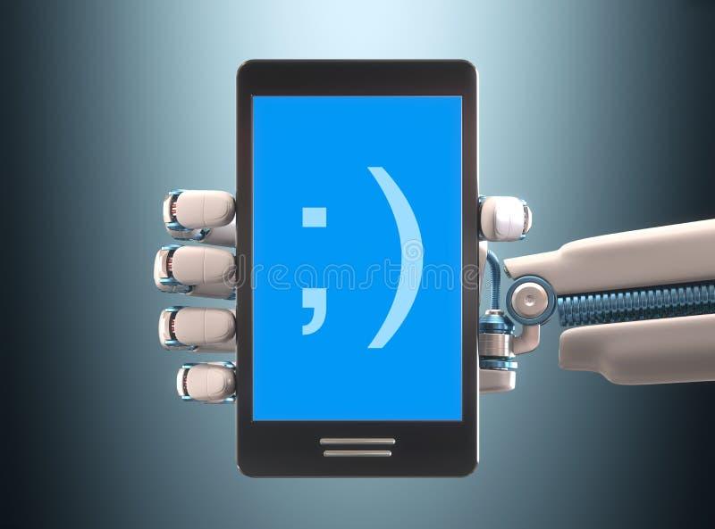 Robot del cellulare immagini stock