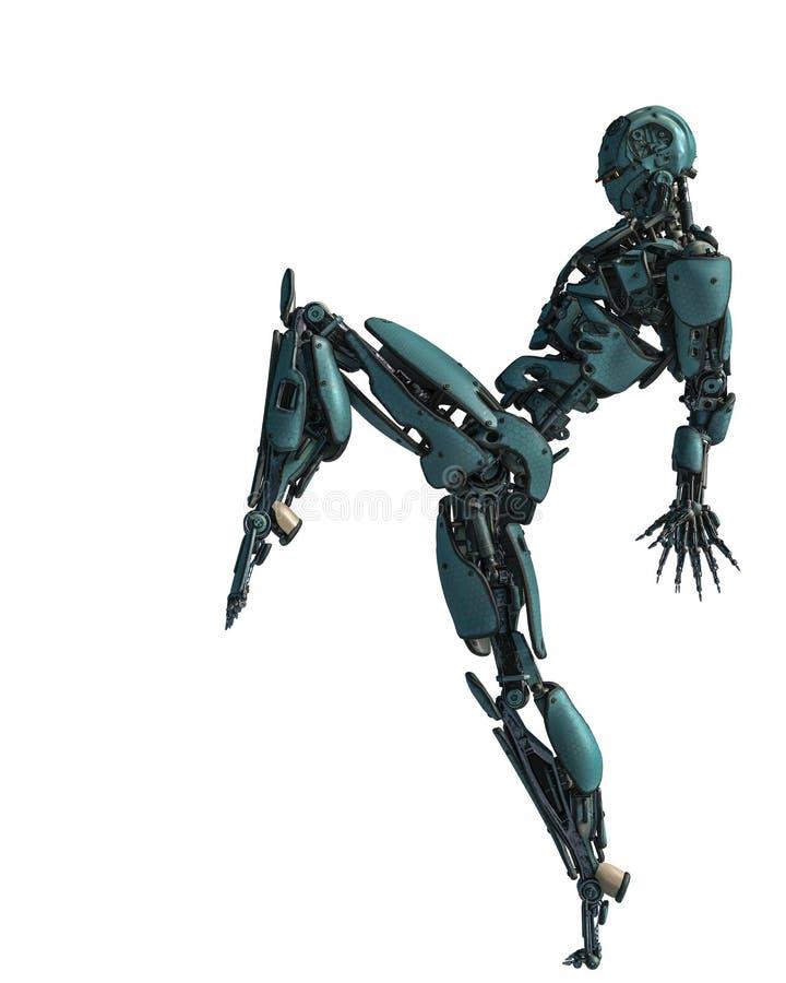 Robot del Cyborg en una misión libre illustration