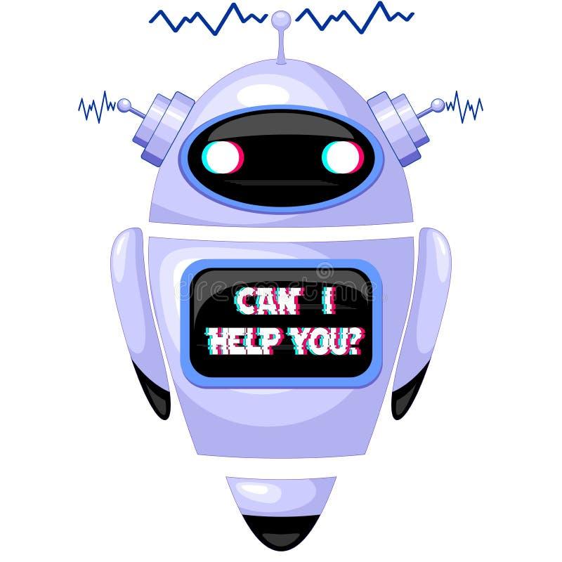 Robot del FAQ de ChatBot ilustración del vector