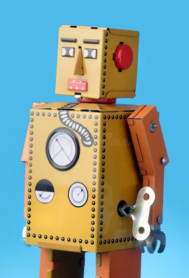 Robot del giocattolo dell'annata fotografie stock libere da diritti