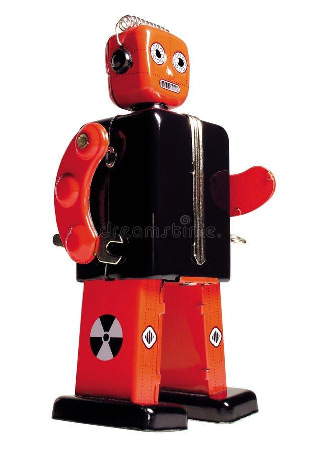 Robot del giocattolo dell'annata immagini stock libere da diritti