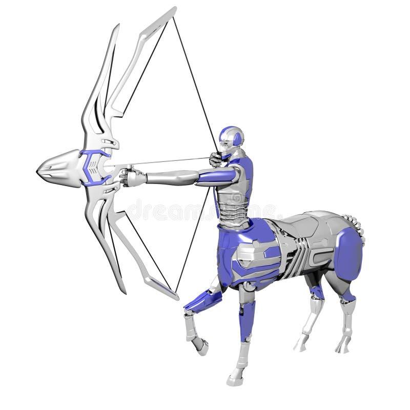 Robot del sagitario stock de ilustración