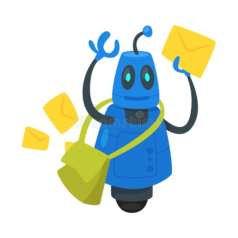 robot del servicio de los posts libre illustration