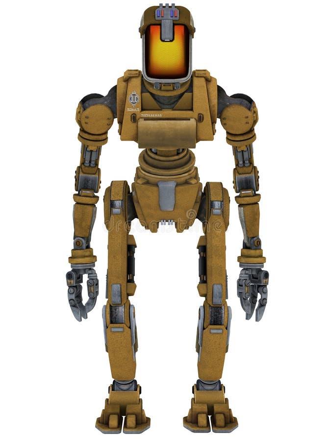 Robot del trabajo stock de ilustración