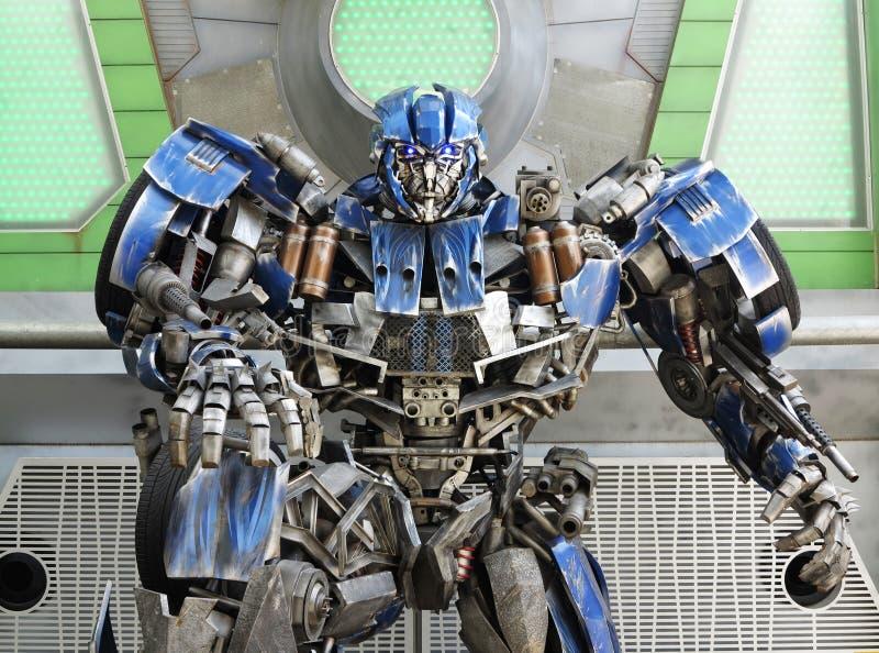Robot del transformador imagenes de archivo