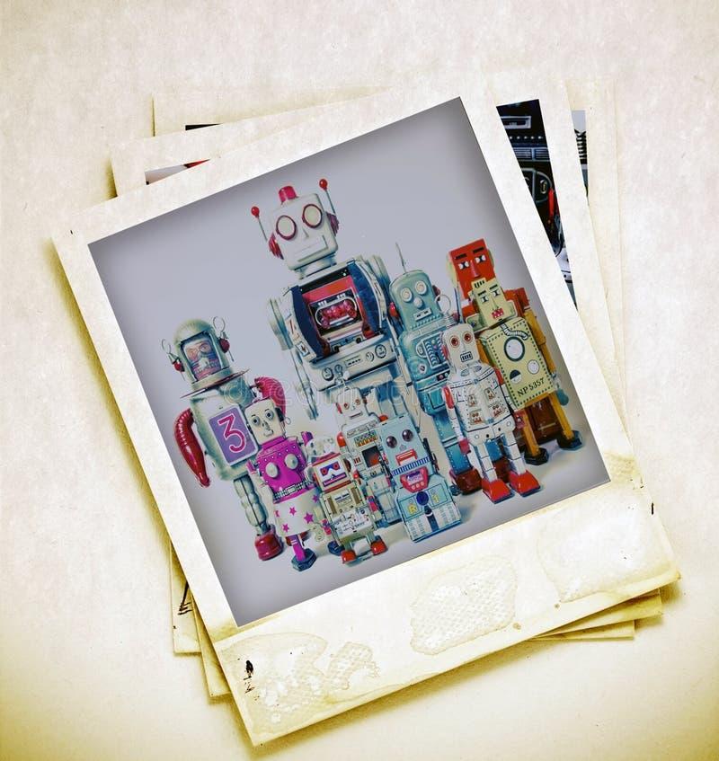 Robot della famiglia fotografie stock libere da diritti