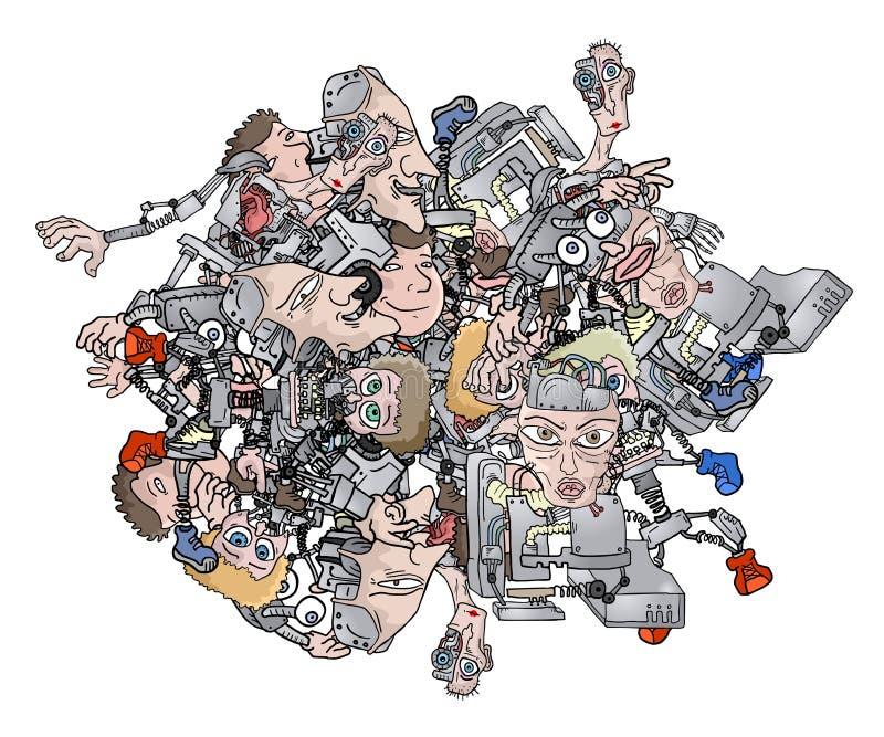 Robot della palla illustrazione di stock