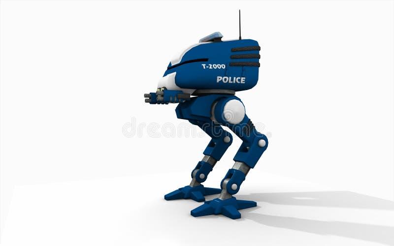 Robot della polizia illustrazione di stock