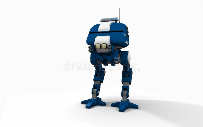 Robot della polizia illustrazione vettoriale