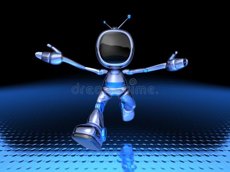 Download Robot della TV illustrazione di stock. Illustrazione di visore - 3141796