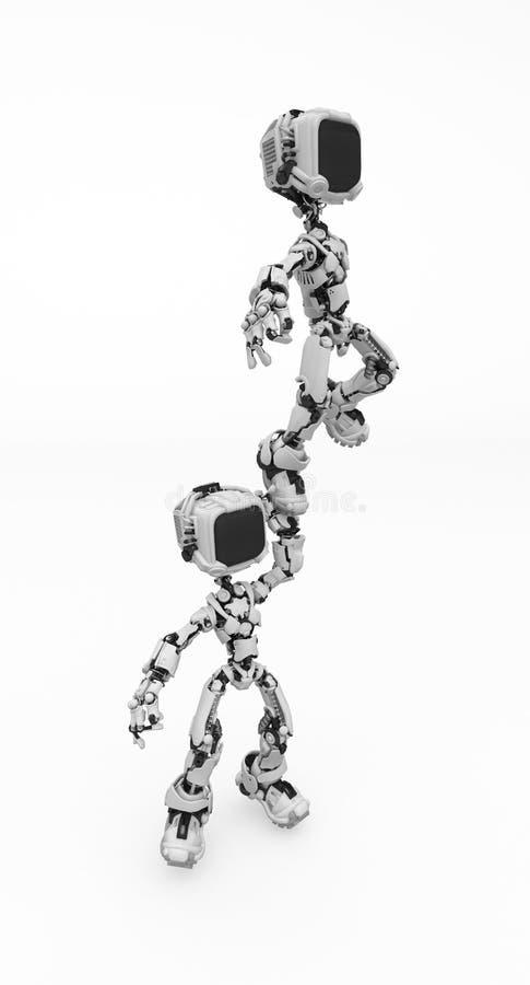 Robot dello schermo, piedino in su illustrazione di stock