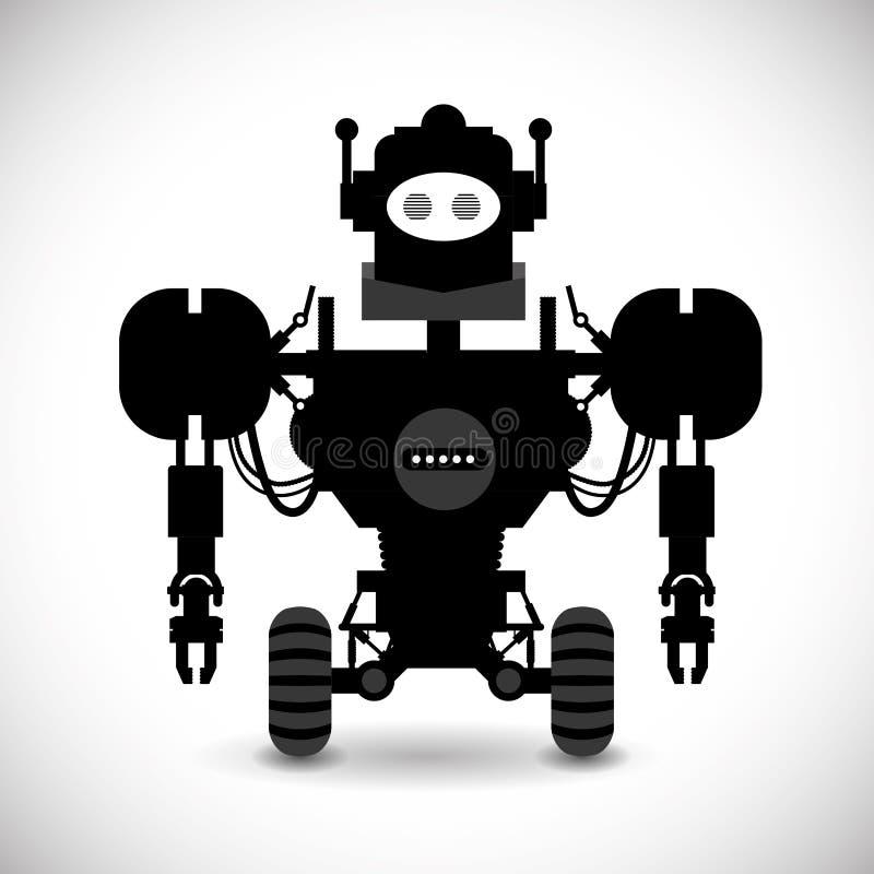 Robot design stock illustration