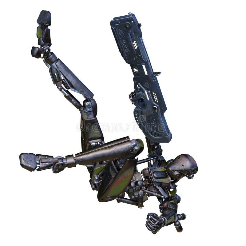 Robot di battaglia royalty illustrazione gratis